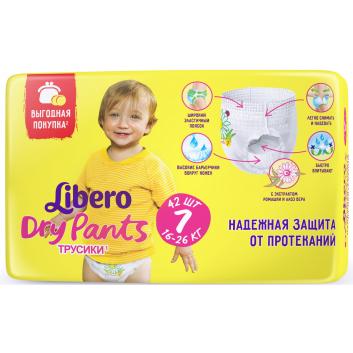 Гигиена, Трусики-подгузники Size 7 Dry Pants 16-26 кг 42 шт Libero 909123, фото