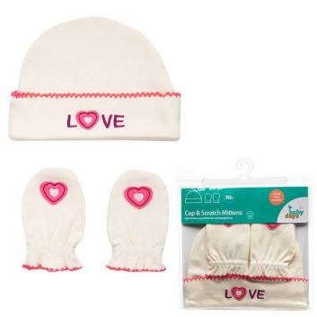 Комплект шапочка и рукавички-антицарапки