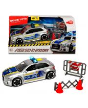 Полицейская машинка Audi RS3 15 см Dickie Toys