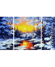 Картина по номерам Триптих Зимняя сказка Schipper