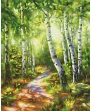 Картина по номерам Березовый лес 24х30 см Schipper