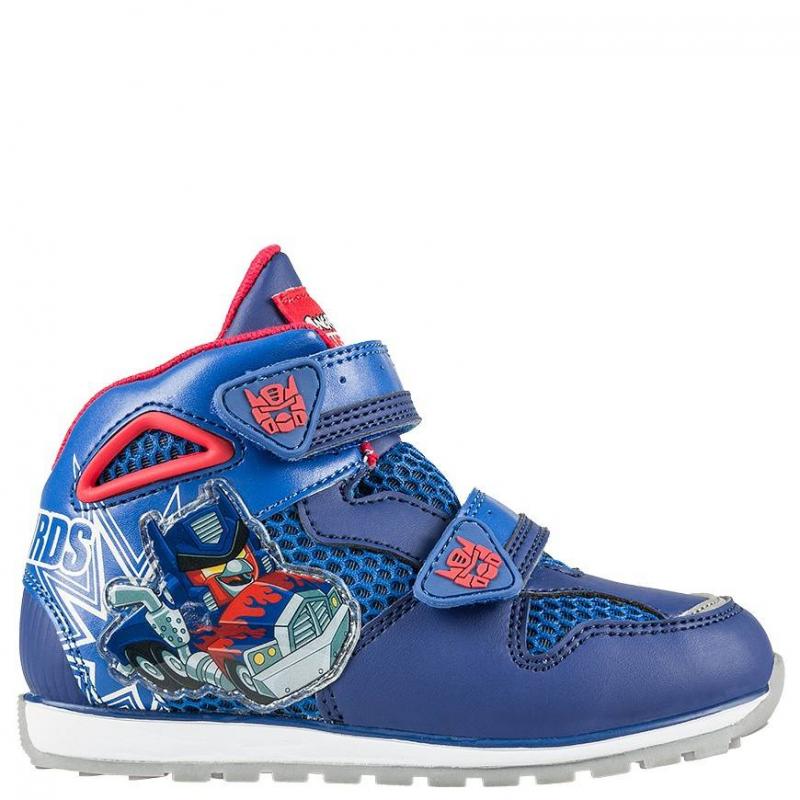 КроссовкиКроссовки синего цвета марки Kakadu для мальчиков.<br>Модель украшена изображением в стиле Angry Birds - Transformers. Сделана обувь из качественной синтетической кожи, с включениями текстиля, которые позволяют ноге дышать. Подошва - контрастная, с протектором,выполненаиз очень легкого и прочного материала, который позволяет ребенку чувствовать себя комфортно при ходьбе.<br><br>Размер: 27<br>Цвет: Синий<br>Пол: Для мальчика<br>Артикул: 644599<br>Страна производитель: Китай<br>Сезон: Весна/Лето<br>Материал верха: Текстиль / Иск. кожа<br>Материал подкладки: Текстиль<br>Материал подошвы: ЭВА (каучук) / ТПР (термопластичная резина)<br>Лицензия: Angry birds