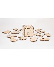 Конструктор головоломка Cube 3D puzzle Eco Wood Art
