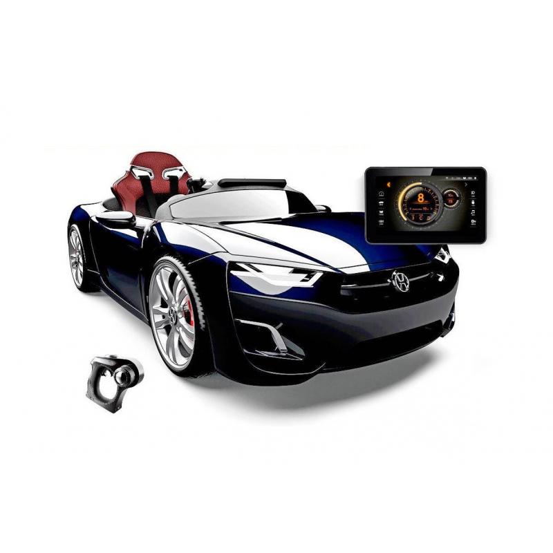 Электромобиль Broon HenesЭлектромобиль Broon Henesчерногоцвета марки RT.<br>Стильный спортивный электромобиль со встроенным планшетом Android является уникальной моделью, которую оценят по достоинству дети и взрослые. Модель с мощным двигателем и с аккумулятором 12 V, также у автомобиля независимая подвескас газовыми амортизаторами. Все детали выполнены в точности как у настоящей машины и придадут реалистичность детским играм, а безопасность обеспечат надежные ремни.<br>У электромобиля есть своя важная особенность - планшетAndroid. Это дополнение располагается на приборной панели и служит для управленияплеером MP3, а также с помощью этого планшета родители смогут использовать некоторые установки, такие как ограничение максимальной скорости электромобиля, а разгон у данной машинки до 8 км/ч.Чтобы узнать все о состоянии автомобиля достаточно посмотреть на дисплей.<br>Второй особенностью является система управления черезBluetooth пульта ДУ. А основным способом передвижения модели остаются руль,педали газа и тормоза.<br>Количество посадочных мест: 1.<br>Размеризделия: 132х66х42 см.<br>Размер упаковки: 133х67х43 см.<br>Максимальная нагрузка: 35 кг.<br>Вес изделия: 34 кг.<br><br>Цвет: Черный<br>Возраст от: 3 года<br>Пол: Для мальчика<br>Артикул: 650196<br>Страна производитель: Китай<br>Бренд: Россия<br>Размер: от 3 лет
