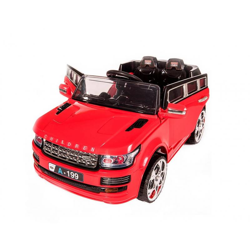 Электромобиль LandRover RALF 1Электромобиль LandRover RALF 1красногоцвета марки RT.<br>Яркий стильный электромобиль на радиоуправлении предназначен для одного или двоих детей, ширина сиденья 42 см. Благодаря реалистичным деталям, световым и звуковым эффектам автомобиль выглядит как настоящий.Модель оснащена мягкими и бесшумными колесами, выполненными из пластика с добавлением эластана, а также для безопасности дополнена специальным ремнями.<br>Завести машину ребенку будет легко, достаточно нажать на кнопку на панели, раздастся звук зажигания и машина готова к играм. А нажимая на педаль малыш приведёт автомобиль в движение. Максимальная скорость составляет3-5 км\ч, скоростей у электромобиля две. Есть возможность управления машины на расстоянии с помощьюпульта. В машине ребенку будет весело, ведь можно подключить телефон или MP3 и слушать любимую музыку, регулируя громкость.<br>Особенности:батарея 6V7AH х 2, 2 мотора, мотор 25W.<br>Комплектация: зарядное устройство, аккумулятор.<br>Размеризделия: 112х71х60 см.<br>Размер упаковки: 113х62х35см.<br>Максимальная нагрузка: 35 кг.<br>Вес изделия: 13,85кг.<br><br>Цвет: Красный<br>Возраст от: 3 года<br>Пол: Для мальчика<br>Артикул: 650201<br>Страна производитель: Китай<br>Бренд: Россия<br>Размер: от 3 лет