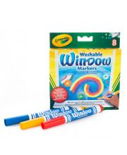 Смываемые маркеры для рисования на стекле 8 шт Crayola