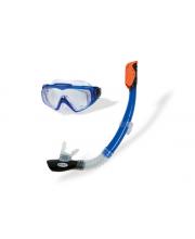 Плавательный набор маска трубка Аква Pro Intex