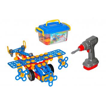 Игрушки, Конструктор Изобретатель Самолёт №2  Wader 650212, фото