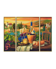 Картина по номерам Триптих Сладкая жизнь 50х80 см Schipper