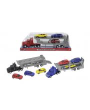 Машинка трейлер с 4 машинками 32 см в ассортименте Dickie Toys