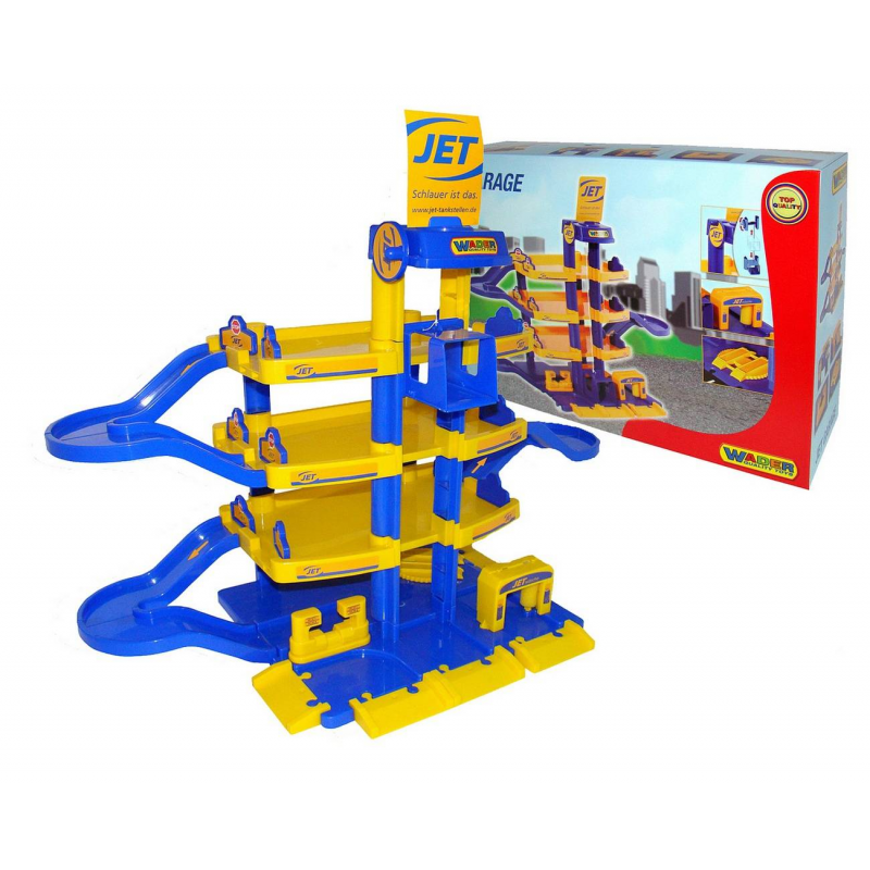 Конструктор Паркинг JETКонструктор Паркинг JET 4-уровневый марки Wader.<br>Детскийконструктор представляет собой четырехэтажныйпаркинг с механическим лифтом, а также спуском для машинок. Модель дополнена мойкой для машинок и подъемником. Конструктор выполнен из пластика в приятной цветовой гамме. С таким конструктором ребенок весело проведет время. Набор предназначен для детей от 3 лет.<br>Размеризделия:77х34х58 см.<br>Размер упаковки:40х17х59 см.<br><br>Возраст от: 3 года<br>Пол: Для мальчика<br>Артикул: 650227<br>Бренд: Германия<br>Размер: от 3 лет