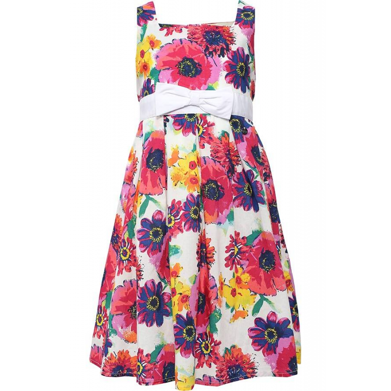 ПлатьеПлатье белого цвета марки Finn Flare.<br>Элегантноелегкое платье выполнено изчистого хлопкаи декорировано яркимцветочным принтом. Модель дополнена широким поясом, завязывающимся на объемный бант, а также пуговицами в форме цеточков на спинке.<br><br>Размер: 7 лет<br>Цвет: Белый<br>Рост: 122<br>Пол: Для девочки<br>Артикул: 646839<br>Страна производитель: Китай<br>Сезон: Весна/Лето<br>Состав: 100% Хлопок<br>Бренд: Финляндия<br>Вид застежки: Пуговицы