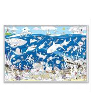 Раскраска плакат Подводный мир ГеоДом