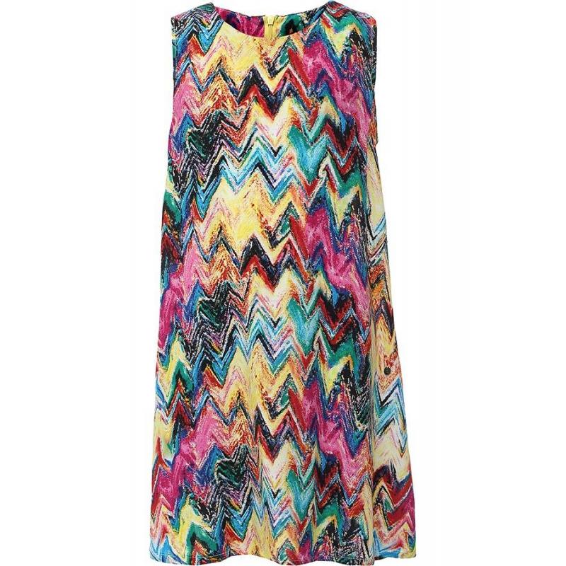 ПлатьеПлатье малиновогоцвета марки Finn Flare.<br>Стильное легкое платье выполнено в яркой расцветке из стопроцентной вискозы.Модель А-силуэта декорирована оригинальным геометрическим принтом и застегивается на потайную молнию.<br><br>Размер: 7 лет<br>Цвет: Малиновый<br>Рост: 122<br>Пол: Для девочки<br>Артикул: 646841<br>Страна производитель: Китай<br>Сезон: Весна/Лето<br>Состав: 100% Вискоза<br>Бренд: Финляндия<br>Вид застежки: Молния