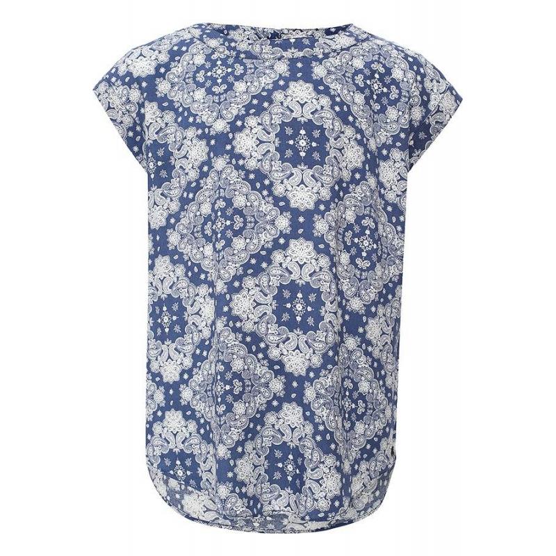 БлузкаБлузка темно-синегоцвета марки Finn Flare.<br>Стильная легкая блузка выполнена в приятнойрасцветкеиз стопроцентной вискозы. Модель свободного кроя выгодно подчеркнута принтомтурецкий огурец белого цвета.<br><br>Размер: 9 лет<br>Цвет: Темносиний<br>Рост: 134<br>Пол: Для девочки<br>Артикул: 646874<br>Страна производитель: Китай<br>Сезон: Весна/Лето<br>Состав: 100% Вискоза<br>Бренд: Финляндия