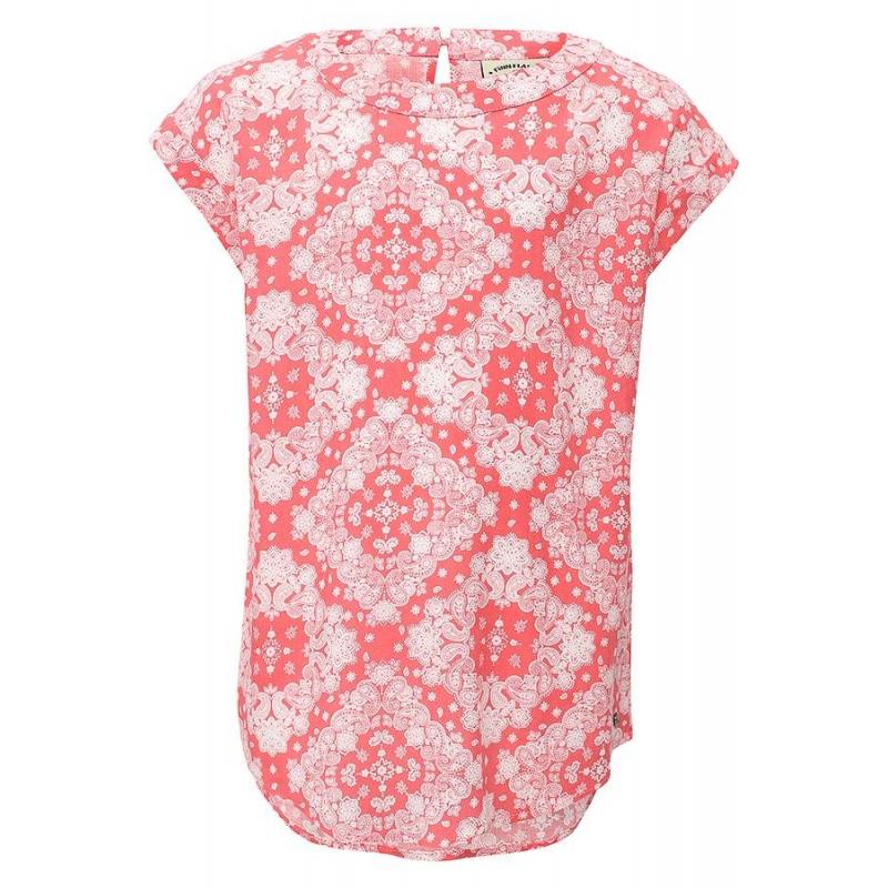 БлузкаБлузка коралловогоцвета марки Finn Flare.<br>Стильная легкая блузка выполнена в приятнойрасцветкеиз стопроцентной вискозы. Модель свободного кроя выгодно подчеркнута принтомтурецкий огурец белогоцвета.<br><br>Размер: 11 лет<br>Цвет: Коралловый<br>Рост: 146<br>Пол: Для девочки<br>Артикул: 646880<br>Страна производитель: Китай<br>Сезон: Весна/Лето<br>Состав: 100% Вискоза<br>Бренд: Финляндия