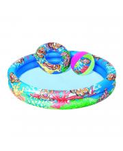 Бассейн 122х20 см круг для плавания 51 см и пляжный мяч 41 см Bestway