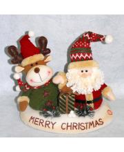 Подставка новогодняя Санта Клаус и Олень Фабрика Деда Мороза