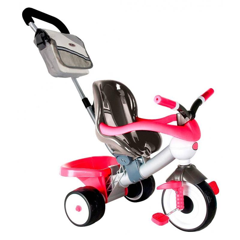 Велосипед трехколесный Comfort Angel Pink AluminiumВелосипед трехколесный Comfort Angel Pink Aluminium марки Coloma для девочек.<br>Легкий и яркийтрехколесныйвелосипед оснащен комфортным глубоким сиденьем с бортиками и ремнями, которые обеспечивают безопасность непоседливым детям, также за безопасность отвечает специальный барьер, изготовленный из приятного и мягкого пластика. ВелосипедыComfort Angel имеют технологию бархатного пластика, а их прорезиненные колеса EVA бесшумны, ведь они сделаны потехнологии двойного вспрыскивания каучука в твердое резиновое шасси колеса. Модель дополнена съемной подножкой, удобной родительской ручкой, которую можно менять по высоте в трех положениях. Также есть съемный капюшон сшитый из ткани с тефлоновым покрытием, благодаря этому не страшны дожди и лучи солнца.<br>Для всего необходимого на прогулке есть вместительная сумка, а любимые игрушки можно возить в небольшом багажнике.<br>Размер велосипеда: 74х48,5х64/97см.<br>Размер упаковки: 44,1x28,8x56,7 см.<br>Вес: 5 кг.<br><br>Цвет: Малиновый<br>Возраст от: 12 месяцев<br>Пол: Для девочки<br>Артикул: 650248<br>Бренд: Испания<br>Размер: от 12 месяцев