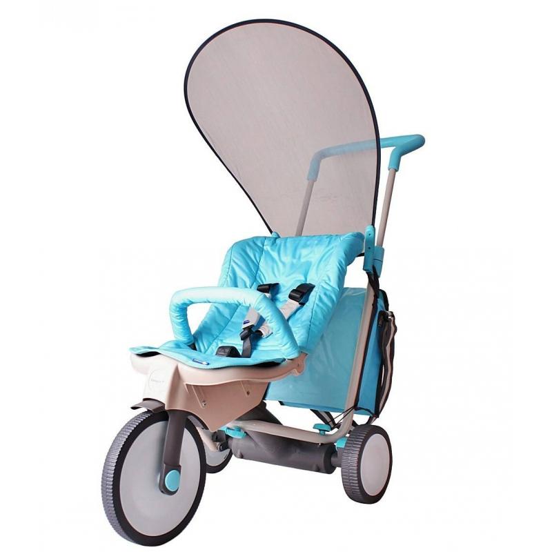 Велосипед-коляска 3 в 1 Evolution blueВелосипед-коляска 3 в 1 Evolution blueмарки Italtrike.<br>Яркийтрехколесныйвелосипед-коляска предназначен для детей от 6месяцев. Модель оснащена съемным блоком с матрасом, съемным поручнем, тормозом на бесшумных колесах, удобной ручкой, напоминающей рычаг. Комфортабельное сиденье обеспечит удобство на протяжении всей поездки, а за безопасность малышаотвечаютспециальные ремни. У длинной ручки есть три положения высоты, подходящих под любой рост родителей.<br>Спрятаться от солнечных лучей или дождя позволит специальный козырек. А для всех необходимых вещей или любимых игрушек есть небольшая сумка. С таким велосипедом-коляской любая прогулка будет проходит с удовольствием.<br>Размер велосипеда: 52х90х100 см.<br>Размер упаковки: 75х50х30 см.<br>Максимальная нагрузка: 35 кг.<br>Вес: 10 кг.<br><br>Цвет: Голубой<br>Возраст от: 6 месяцев<br>Пол: Не указан<br>Артикул: 650272<br>Бренд: Италия<br>Размер: от 6 месяцев
