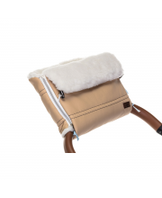 Муфта меховая для коляски Alpino Lux Bianco Nuovita