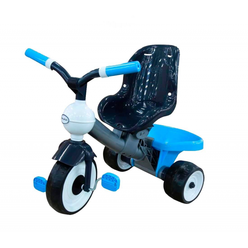 Велосипед трехколесный Angel BlueВелосипед трехколесный Angel Blue марки Coloma.<br>Легкийтрехколесныйвелосипед из коллекцииAngel подойдет для детей от1,5 года. Главной особенностью этой модели является высокое и комфортабельное сиденье, оно довольно глубокое. Второе отличие этой модели от других - бархатный пластик, прикоснувшись к нему вы все поймете. Бесшумные прорезиненные колесаEVA выполнены путемдвойного вспрыскивания каучука в твердое резиновое шасси колеса.<br>А для всех необходимых вещей или любимых игрушек есть довольно вместительный багажник. С таким велосипедом ребенок не заскучает на прогулке.<br>Размер велосипеда: 74х48х68,5см.<br>Размер упаковки: 56х50х73 см.<br>Вес: 4,7 кг.<br><br>Цвет: Голубой<br>Возраст от: 18 месяцев<br>Пол: Не указан<br>Артикул: 650274<br>Бренд: Испания<br>Размер: от 18 месяцев