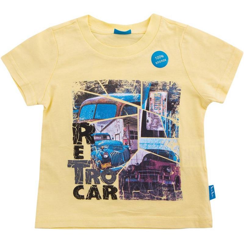 ФутболкаФутболка жёлтогоцвета маркиButton Blueдлямальчиков.<br>Яркая футболка с коротким рукавом выполнена из чистого хлопка. Модель декорированастильнымпринтом с изображением машин и надписью Retro car.<br><br>Размер: 8 лет<br>Цвет: Желтый<br>Рост: 128<br>Пол: Для мальчика<br>Артикул: 633732<br>Страна производитель: Китай<br>Сезон: Весна/Лето<br>Состав: 100% Хлопок<br>Бренд: Россия