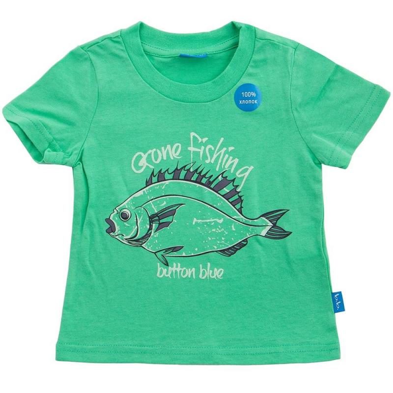 ФутболкаФутболка зелёногоцвета маркиButton Blueдлямальчиков.<br>Модная футболка с коротким рукавом выполнена из чистого хлопка. Модель украшена стильнымпринтом с надписью и изображением рыбы.<br><br>Размер: 11 лет<br>Цвет: Зеленый<br>Рост: 146<br>Пол: Для мальчика<br>Артикул: 633728<br>Страна производитель: Китай<br>Сезон: Весна/Лето<br>Состав: 100% Хлопок<br>Бренд: Россия