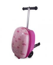 Самокат чемодан Фламинго Zinc