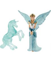 Эльфийка Айела и ледяная статуя единорога Schleich