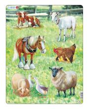 Пазл Домашние животные 34 детали LARSEN