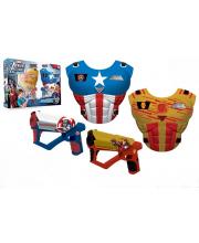 Набор оружия Мстители с 2 жилетами