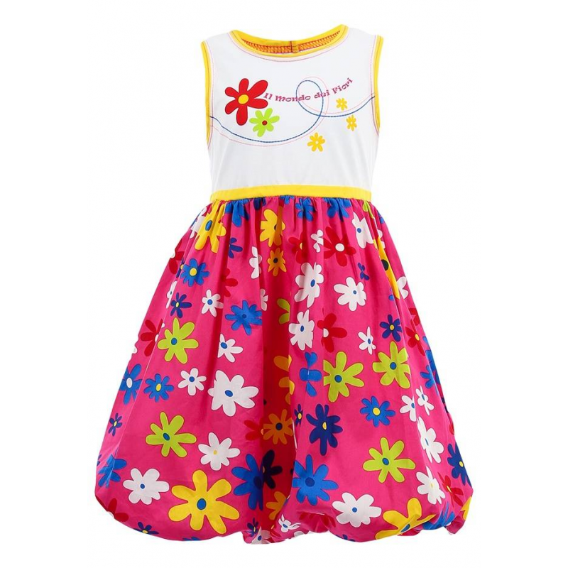 ПлатьеЯркое, цветочное, летнее платье для девочек марки LP Collection цвета фуксия с белым верхом. Открытые плечи, узкая талия, широкая юбка. Мягкая на ощупь, дышащая ткань.<br><br>Размер: 5 лет<br>Цвет: Лиловый<br>Рост: 110<br>Пол: Для девочки<br>Артикул: 002032<br>Страна производитель: Таиланд<br>Сезон: Весна/Лето<br>Коллекция: Весна/Лето 2014<br>Состав: 100% Хлопок