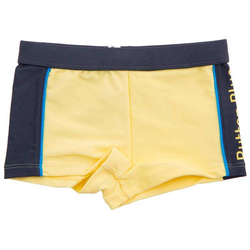 ПлавкиПлавки жёлтогоцвета марки Button Blueдля мальчиков.<br>Плавки выполнены изэластичного быстросохнущего материала, имеют подкладку и шнуровку. Модель декорирована тёмно-серыми вставкамии принтом с названием бренда.<br><br>Размер: 7 лет<br>Цвет: Желтый<br>Рост: 122<br>Пол: Для мальчика<br>Артикул: 636077<br>Страна производитель: Китай<br>Сезон: Весна/Лето<br>Состав: 83% Полиамид, 17% Эластан<br>Состав подкладки: 100% Полиэстер<br>Бренд: Россия