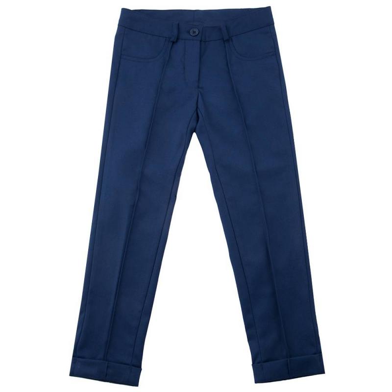 БрюкиБрюкитёмно-синегоцвета маркиButton Blue для девочек.<br>Брюки классического дизайна, выполненные из мягкой ткани с добавлением эластана, декорированы стрелками, а также вышивкой с названием бренда на поясе. Модельдополненапередними карманами,шлёвками для ремня и регулируемойкулиской на талии.<br><br>Размер: 7 лет<br>Цвет: Темносиний<br>Рост: 122<br>Пол: Для девочки<br>Артикул: 636884<br>Страна производитель: Китай<br>Сезон: Всесезонный<br>Состав: 68% Полиэстер, 30% Район, 2% Эластан<br>Состав подкладки: 100% Полиэстер<br>Бренд: Россия