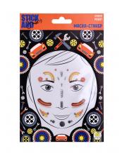 Маска стикер для лица Боевой робот Stick and Smile