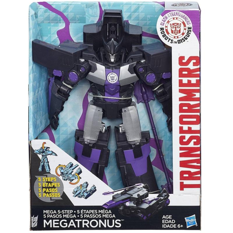 Игрушка-трансформер MegatronusИгрушка-трансформер Megatronus маркиHasbro.<br>Трансформер Megatronus- игрушечный роботс оружием в одной руке и ракетной установкой вместо другой руки, который превращается в военный боевой танк за 5шагов. Благодаря идеально точно выполненным деталям и качественной сборке, ребенок без труда сможет изменять свою игрушку трансформера, устраивая боевые сцены по мотивам любимого фильма.<br><br>Возраст от: 6 лет<br>Пол: Для мальчика<br>Артикул: 647257<br>Страна производитель: Китай<br>Бренд: США<br>Лицензия: TRANSFORMERS<br>Размер: от 6 лет