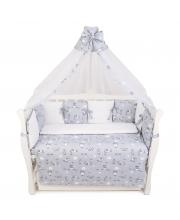 Комплект в кроватку 18 предметов Exclusive Soft Collection Amarobaby
