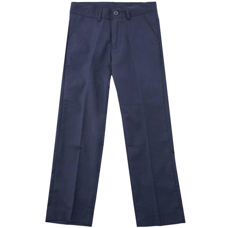БрюкиБрюки тёмно-серогоцвета маркиButton Blue для мальчиков.<br>Брюки классического дизайна, выполненные из мягкой ткани,застёгиваются на молнию и пуговицу. Модельдополнена функциональными передними и декоративными задними карманами,шлёвками для ремня, а также регулируемойкулиской на талии.<br><br>Размер: 8 лет<br>Цвет: Темносерый<br>Рост: 128<br>Пол: Для мальчика<br>Артикул: 636781<br>Страна производитель: Китай<br>Сезон: Всесезонный<br>Состав: 80% Полиэстер, 20% Вискоза<br>Состав подкладки: 100% Полиэстер<br>Бренд: Россия