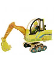 Деревянные 3D пазлы Экскаватор 60 деталей Robotime