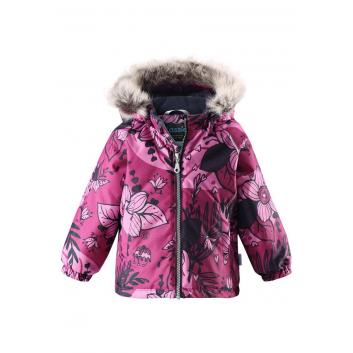 Малыши, Зимняя куртка для девочки LASSIE (малиновый)357244, фото