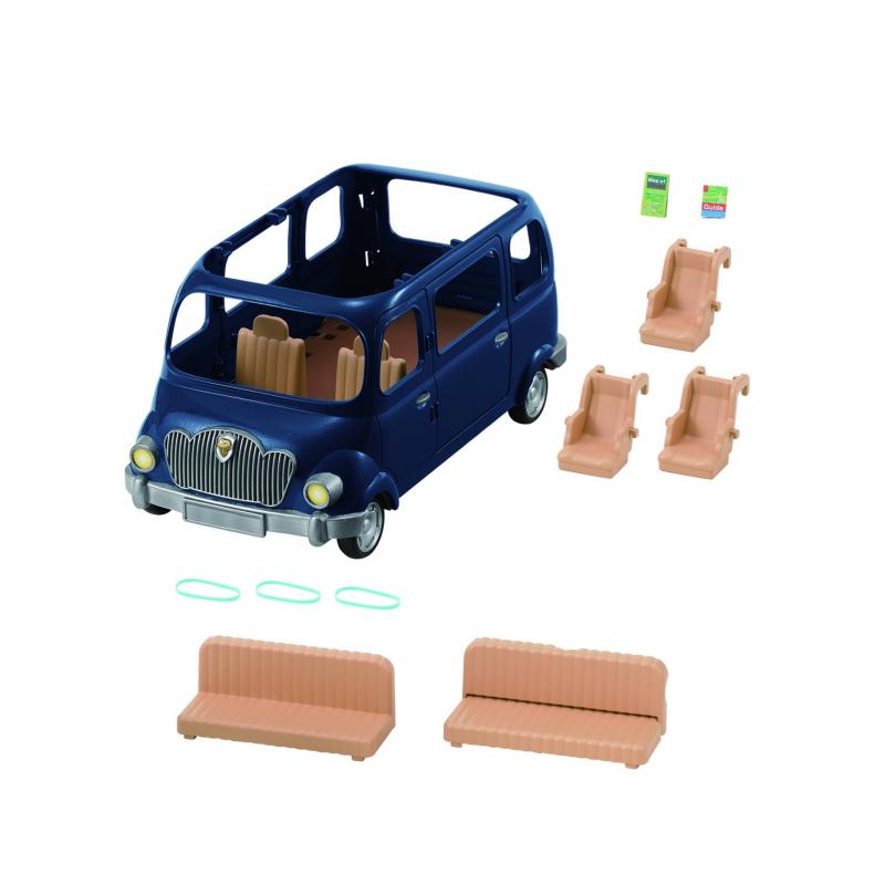 Набор Семейный автомобиль 7 местНабор Семейный автомобиль 7 мест марки Sylvanian Families.<br>На этомавтомобиле можно смело отправляться в путешествие всей семьей! В салоне семь мест и три ряда сидений, которые полностью вынимаются. Помимо этого, один из диванов раскладывается в виде кровати.<br>В набор входит: 2 дорожные карты, 3 детских кресла, 2 больших сиденья.<br><br>Возраст от: 3 года<br>Пол: Для девочки<br>Артикул: 653000<br>Бренд: Япония<br>Страна производитель: Китай<br>Размер: от 3 лет