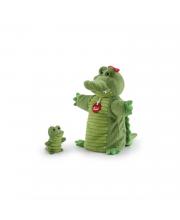 Мягкая игрушка на руку Крокодил с крокодильчиком Trudi