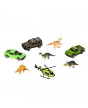 Автоперевозчик Dino с транспортными средствами и динозаврами HTI