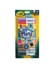 Смываемые мини-маркеры 14 шт Crayola