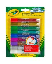 Клей с блестками 9 цветов Crayola