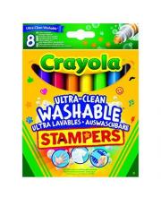 Маркеры с набором мини-штампов Супер чисто Животные 8 шт Crayola
