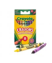 8 разноцветных восковых мелков