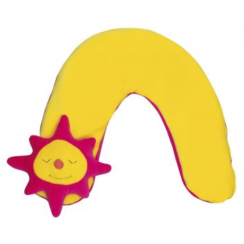 Мебель, Подушка шейная большая Солнце Theraline (желтый)655061, фото