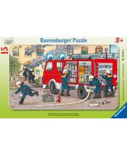 Пазл Пожарная машина 15 элементов